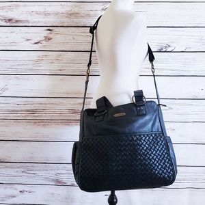 Wendy Bellisimo LARGE Black Woven Diaper Bag Vegan